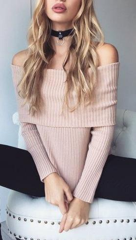 Theta Off Shoulder Sweater