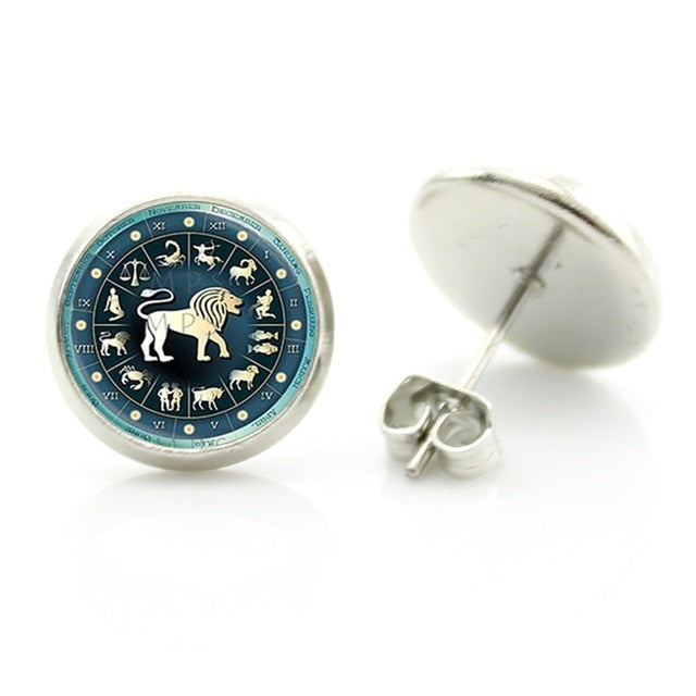 Zodiac Sign Stud Earring