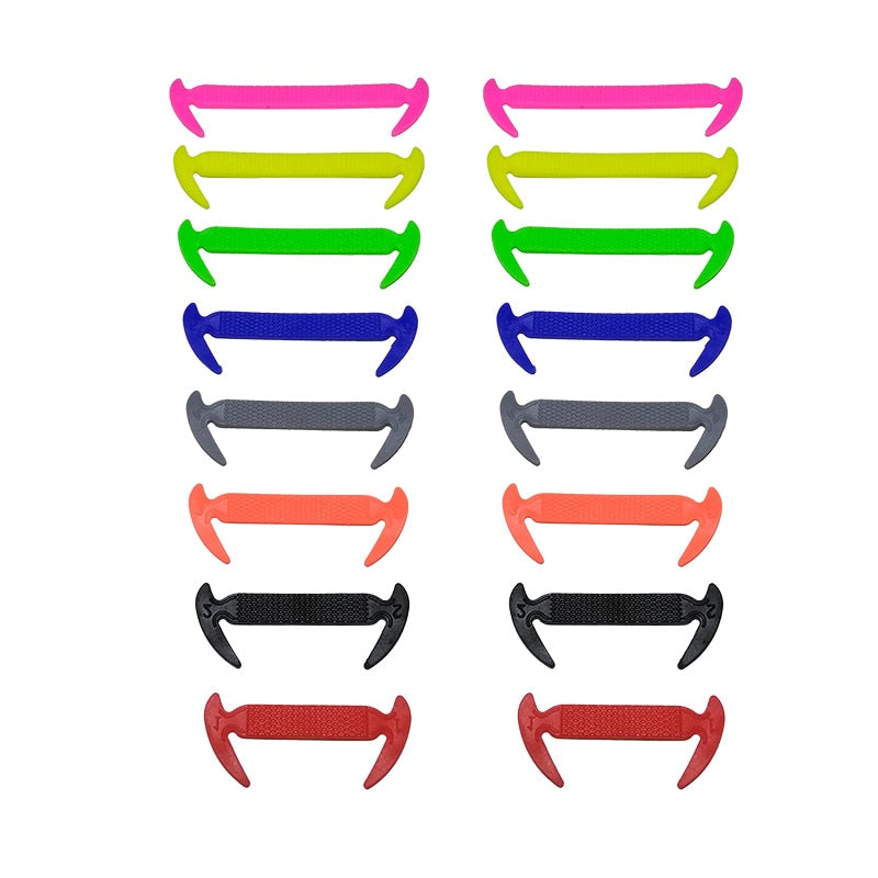 Elastic Silicone Shoelaces 16pcs/lot