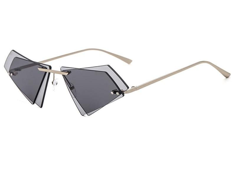 Geometric Double Layer Sunglasses