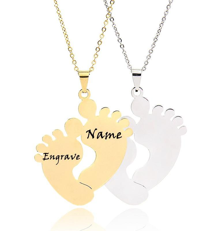 Baby Feet Pendant Necklaces