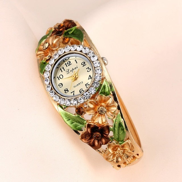 Flowers Bracelet Watch