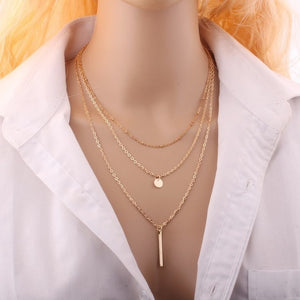 Orbit  3 Layers Necklace