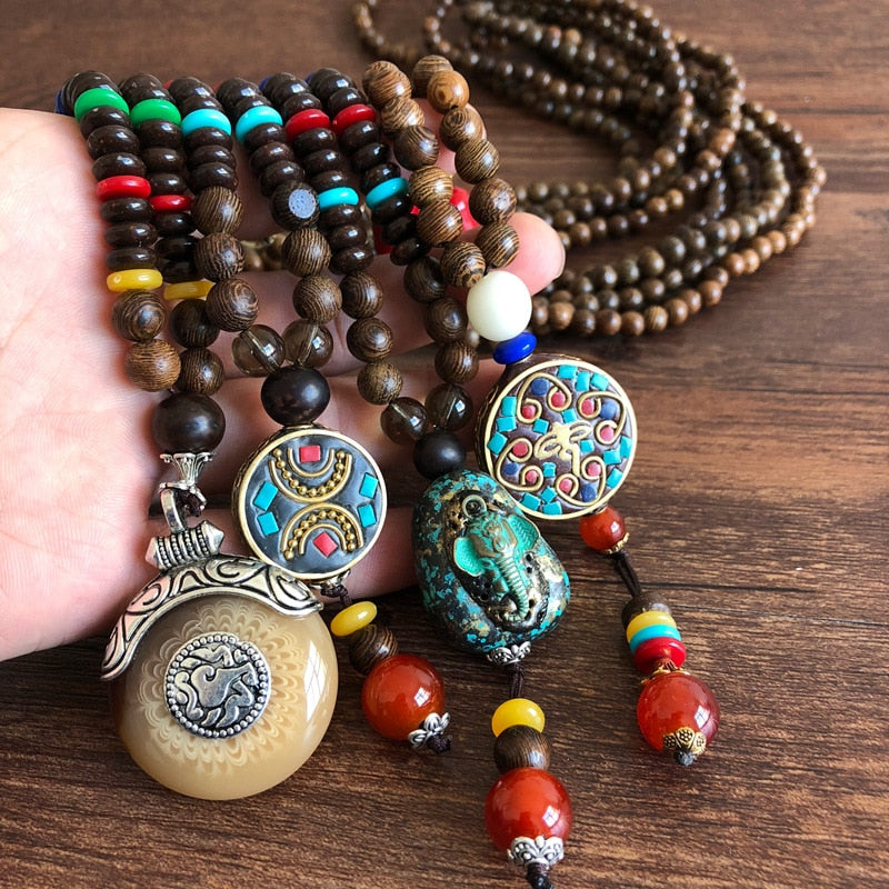 Nepal Wood Necklaces
