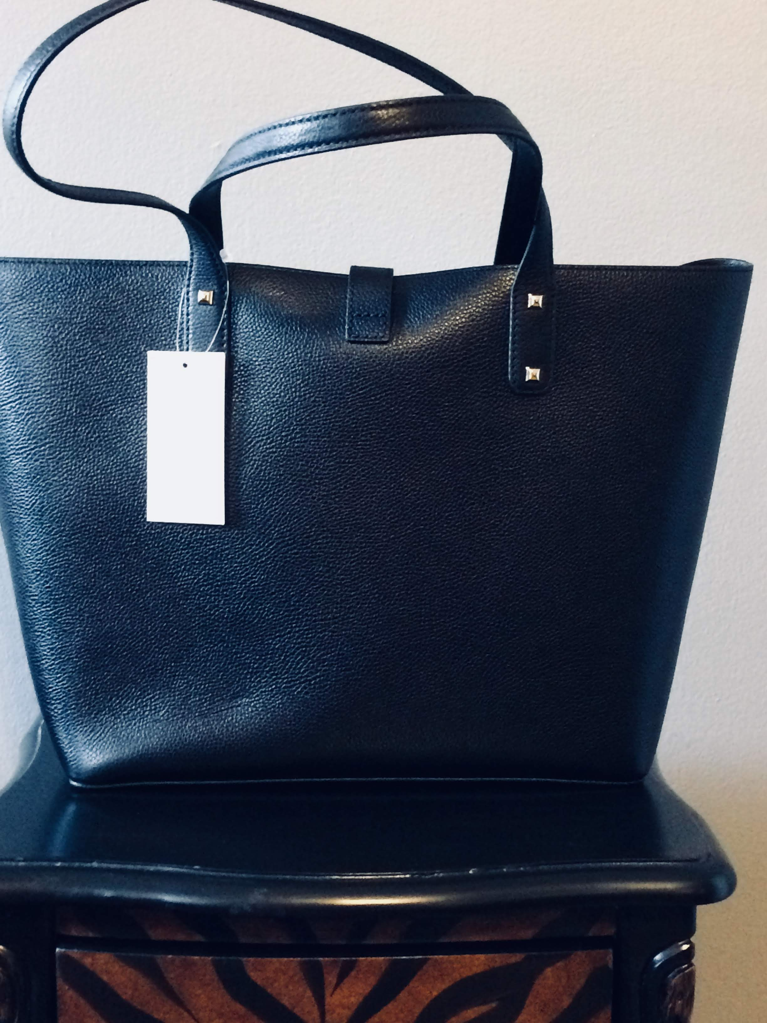 9c19d008063b30 MICHAEL Michael Kors Karson Large Black Pebbled Leather Carryall Tote NS