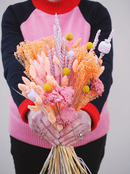 The Peach Melba Baked Blossoms Dried Flower Bunch