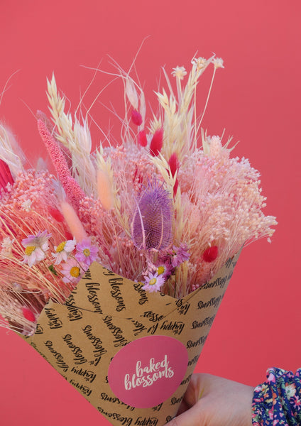 The Pink Wafer Dried Baked Blossom Bunch
