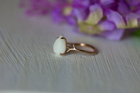 Milk Drop Branch Ring