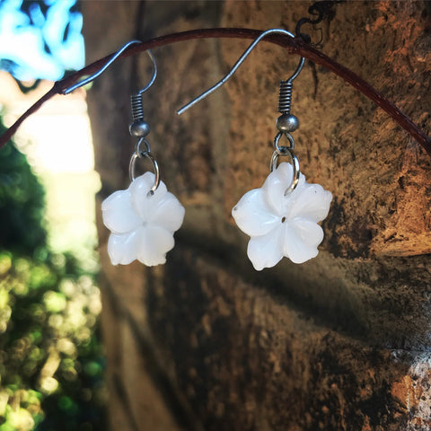 Milk Flower Earrings