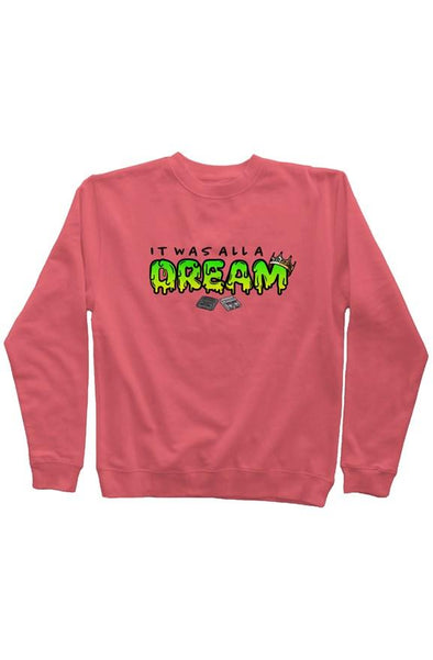 Juicy Pigment Dyed Crew Neck - Pink