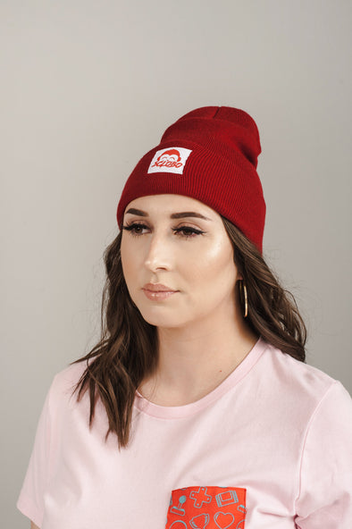 Level 1 Beanie: Cranberry