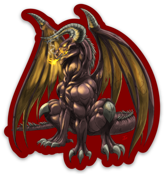 Kojirran the Fire Dragon - Sticker