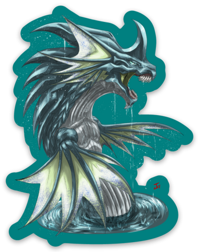 Nazmu the Water Dragon - Sticker