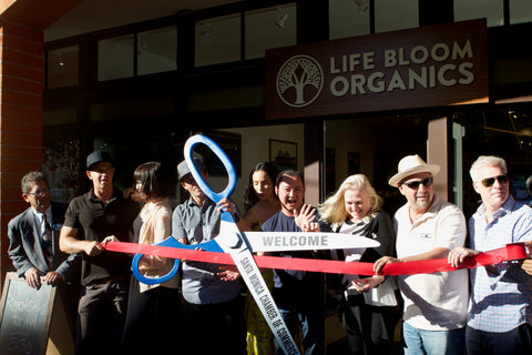Life Bloom Organics Santa Monica ribbon cutting