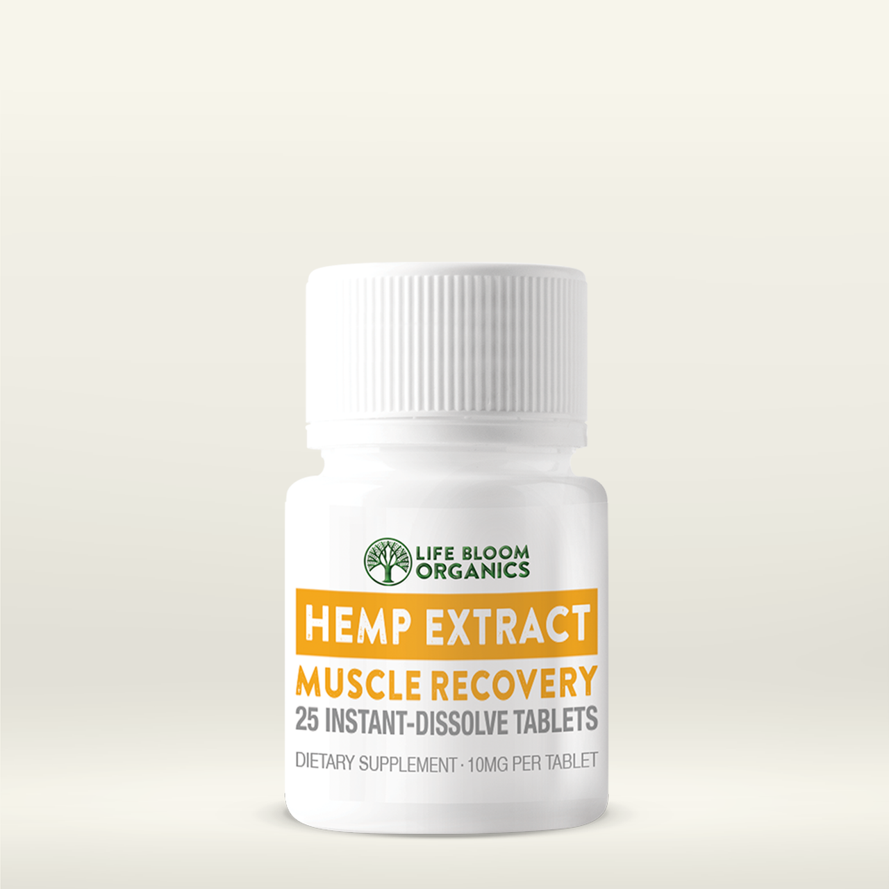 Quick-Dissolve Hemp Extract Muscle Recovery Tablets