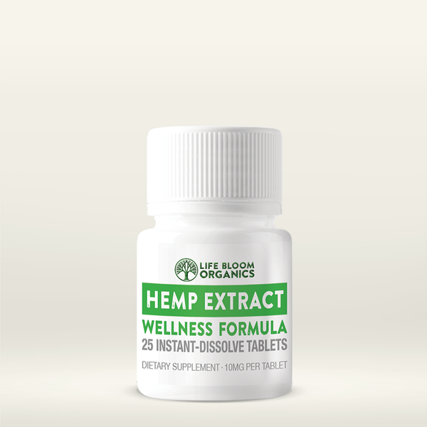 Quick-Dissolve Hemp Extract Wellness Tablets