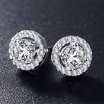 Kimberly Halo Stud Earrings