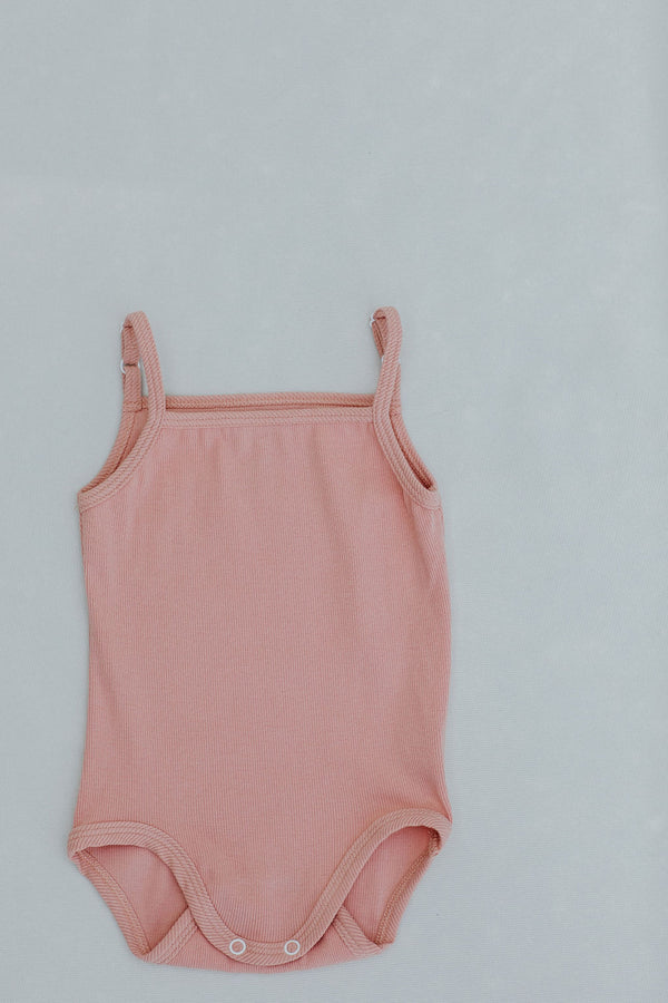 kinder capsule spaghetti strap bodysuit organic baby and toddler clothing