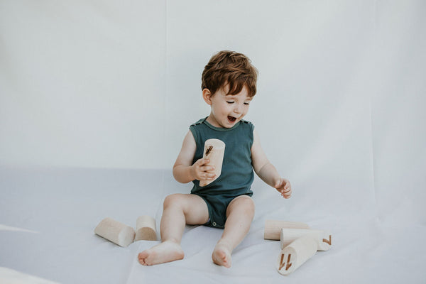 kinder capsule sleeveless bodysuit organic baby and toddler clothing