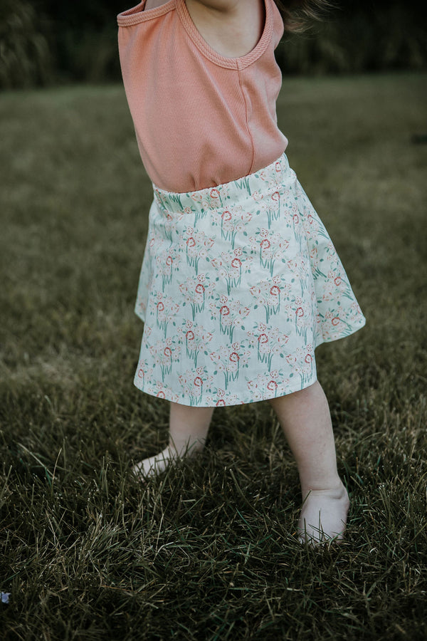 kinder capsule bloomer skirt organic baby and toddler clothing