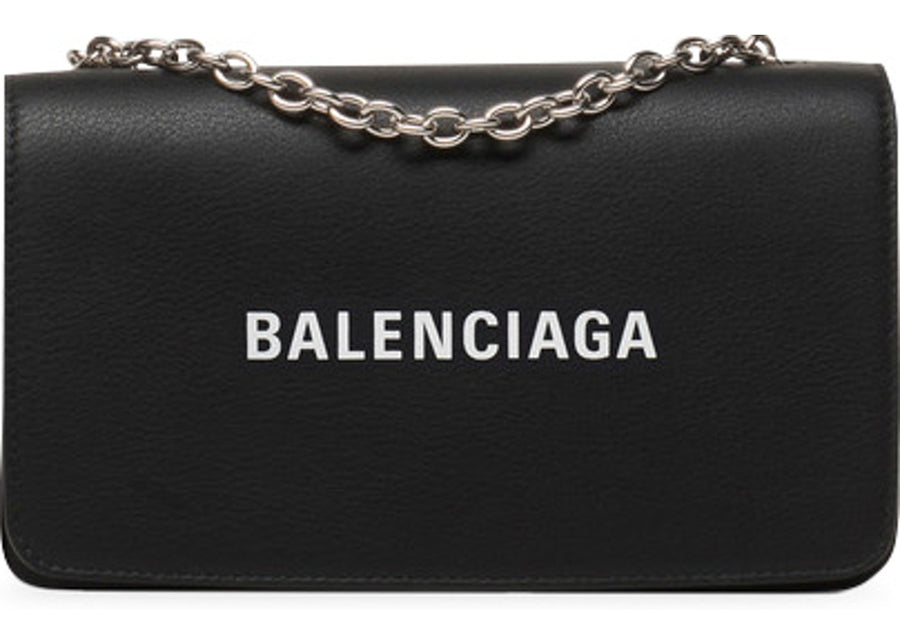 Balenciaga Everyday Chain Wallet Black