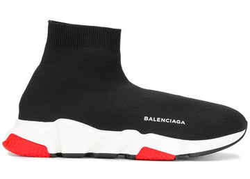 Authentic Balenciaga Speed Trainer Black Red