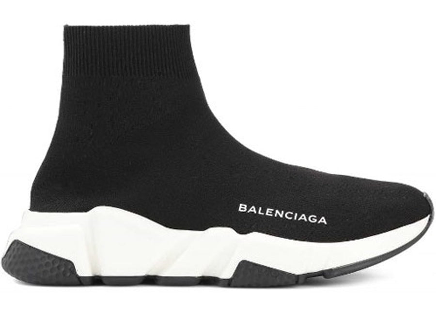 Authentic Balenciaga Speed Trainer Black White (W)