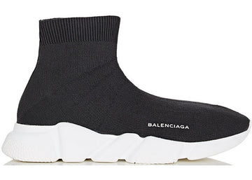Authentic Balenciaga Speed Trainer Black White