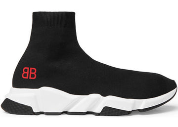 Authentic Balenciaga Speed Trainer Mr. Porter Black