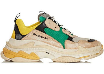Authentic Balenciaga Triple S Beige Green Yellow (2018 Reissue)