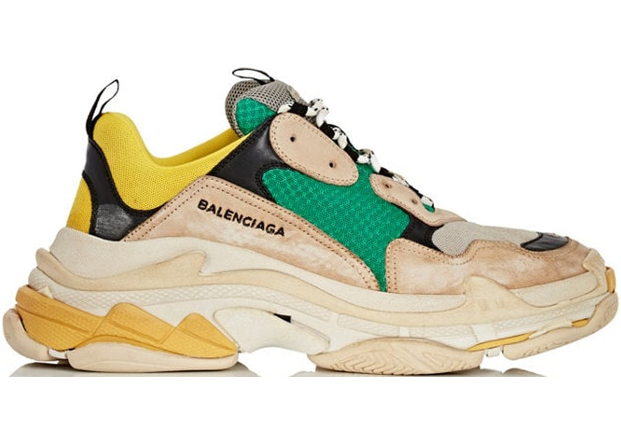 Authentic Balenciaga Triple S Beige Green Yellow