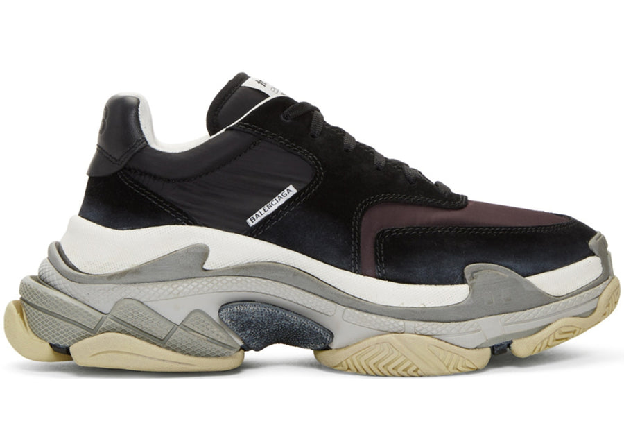 Authentic Balenciaga Triple S Black Burgundy