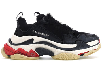 Authentic Balenciaga Triple S Black White Red