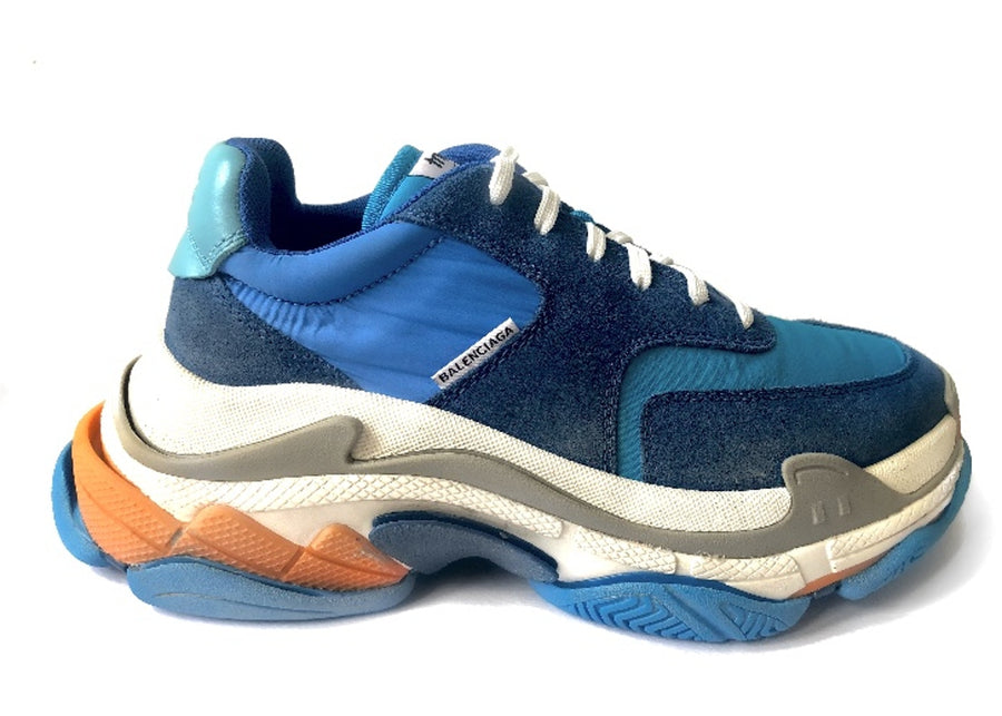 Authentic Balenciaga Triple S Blue Orange