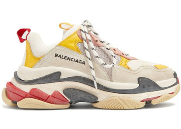 Authentic Balenciaga Triple S Cream Yellow Red (W)