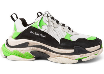 Authentic Balenciaga Triple S Mr. Porter Neon Green (2018)
