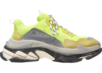 Authentic Balenciaga Triple S Neon Yellow (2018 Reissue)