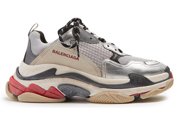 Authentic Balenciaga Triple S Silver Red (W)