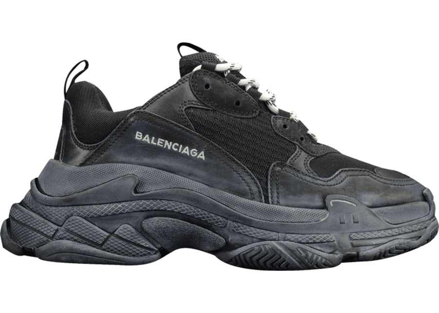 Authentic Balenciaga Triple S Triple Black (2018 Reissue) (Pre-Distressed)