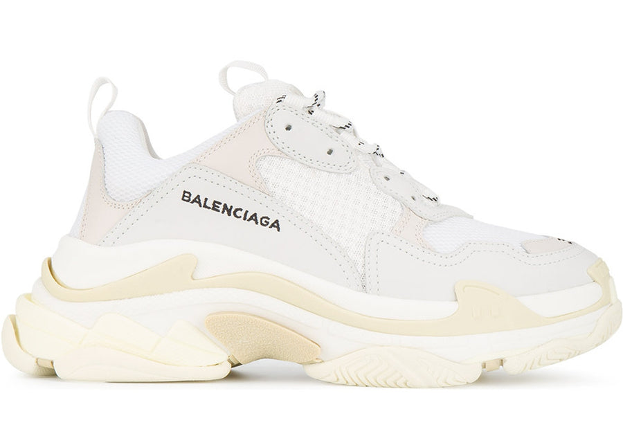 Authentic Balenciaga Triple S White (W)