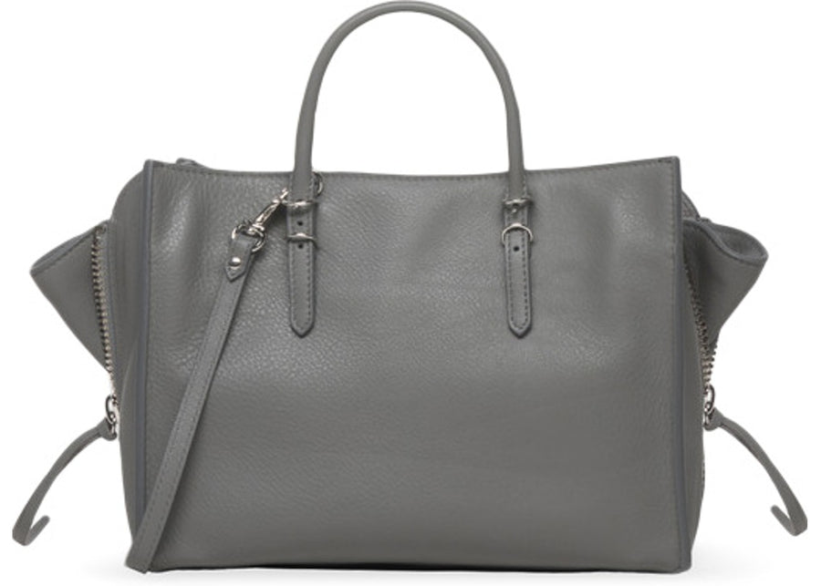 Balenciaga Papier A6 Zip Around Metal Grey