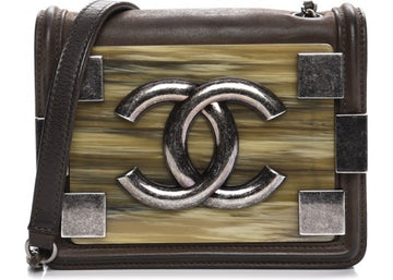 Chanel Boy Brick Flap Marble Iridescent