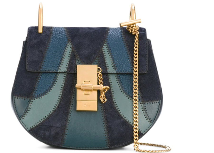 Chloe Drew Crossbody Mini Full Blue