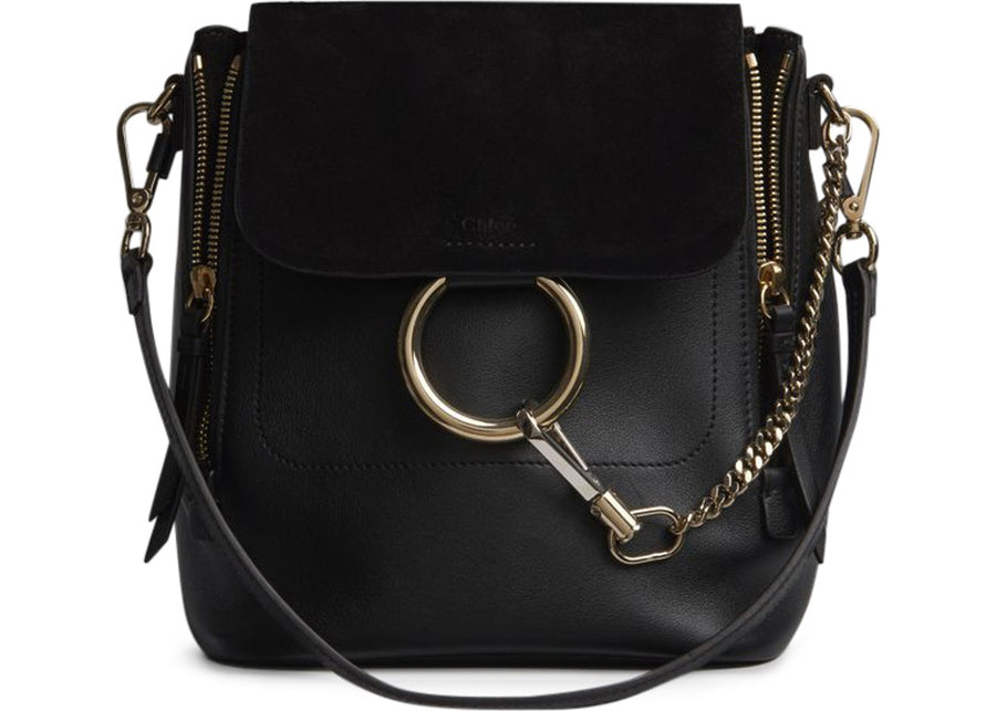 Chloe Faye Backpack Small Black