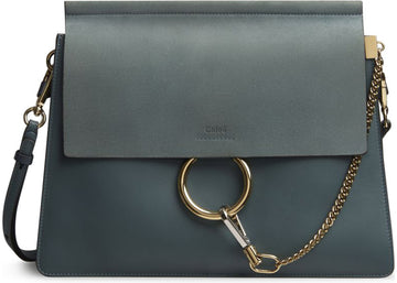 Chloe Faye Smooth/Suede Medium Cloudy Blue