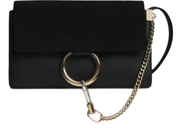 Chloe Faye Smooth/Suede Small Black