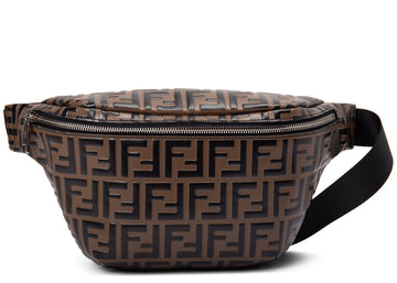 Fendi Belt Bag Embossed Tobacco Black
