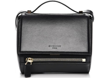 Givenchy Pandora Box Messenger Textured Calfskin Mini Black