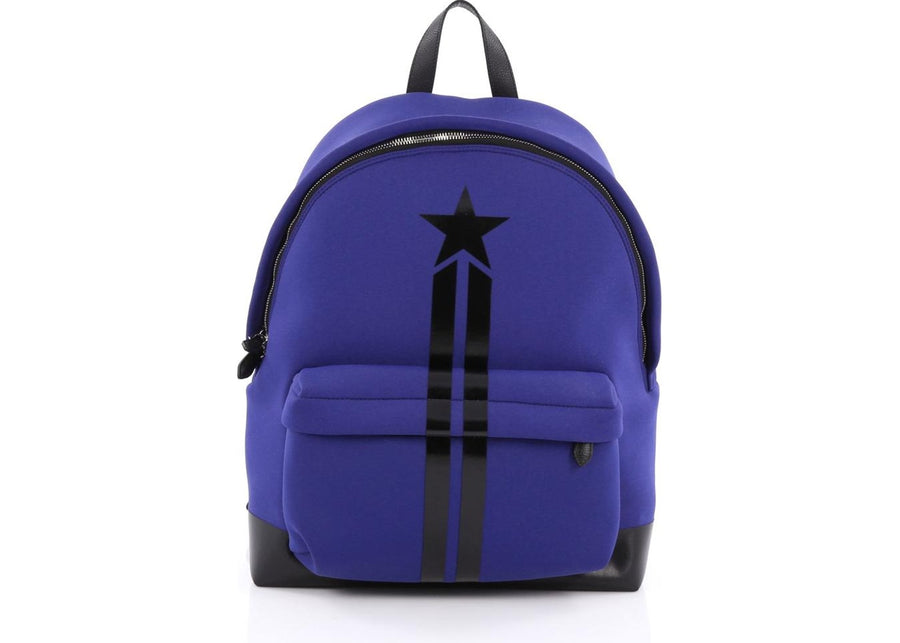 Givenchy Pocket Backpack Printed Neoprene XL Royal Blue