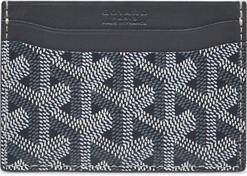 Authentic Goyard Card Holder Chevron Grey 1